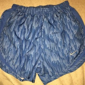 blue patterned nike shorts